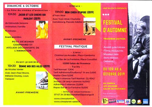 Du 1er au 6 octobre, troisième Festival d'Automne ....