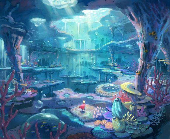 Deep Abyss environment  artwork from Ni no Kuni II: Revenant Kingdom #art #illustration #artwork #gaming #videogames #gamer