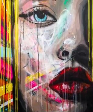 Dessin Et Peinture Vidéo 2410 Portrait Pop Art Sur Fond De