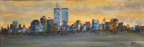 Gratienne VOISIN ELOY Artiste Peintre rend HOMMAGE AUX VICTIMES DES ATTENTATS DU 11 SEPTEMBRE 2001 à NEW YORK