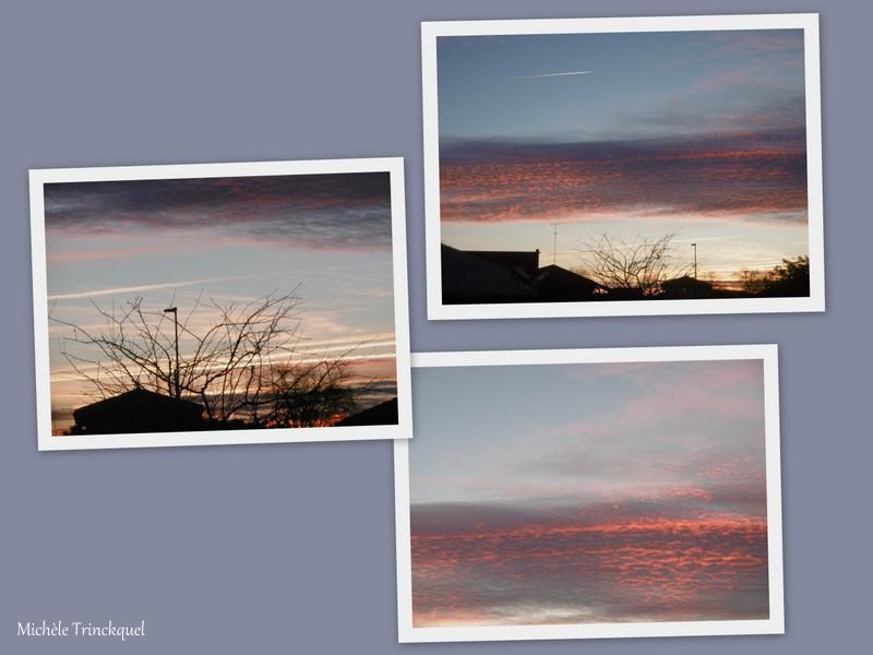 Le ciel au soir du 13 janvier... et au matin du 14 janvier...