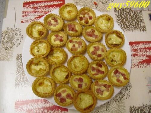 mini-tartelettes faites pour la nouvelle année