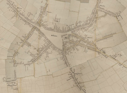 Sint-Niklaas (Atlas der Buurtwegen, 1841)(geopunt.be)