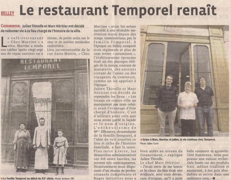 Le restaurant Temporel