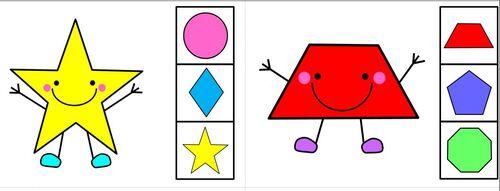 petit jeu pour reconnaitre formes et couleurs