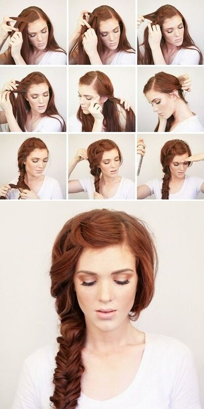 An easy and chic side braid.