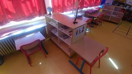 Réaménagement de la classe en espace