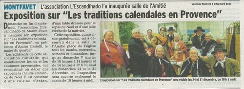 TRADITIONS CALENDALES EN PROVENCE
