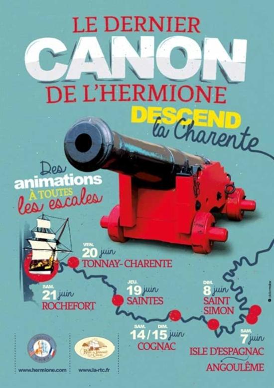 Le dernier canon de l'Hermione à Tonnay-Charente
