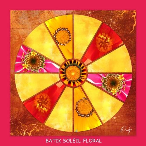 Mandala Batik soleil-floral