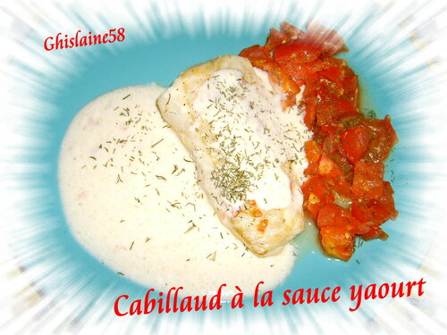 Cabillaud à la sauce yaourt