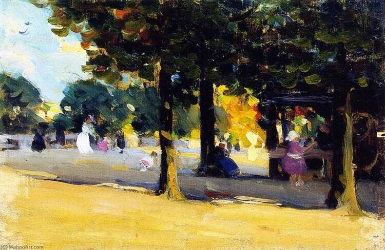 Clarence Alphonse Gagnon. Le Jardin du Luxembourg (1905)