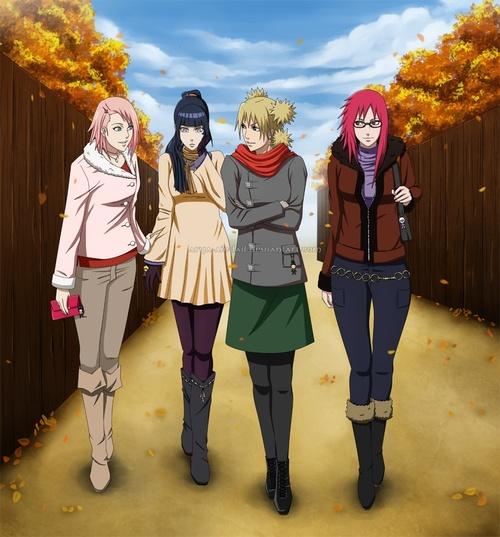 Sakura ,Hinata,Temari et Karin