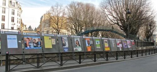 affiche politique Régionale canal St Martin