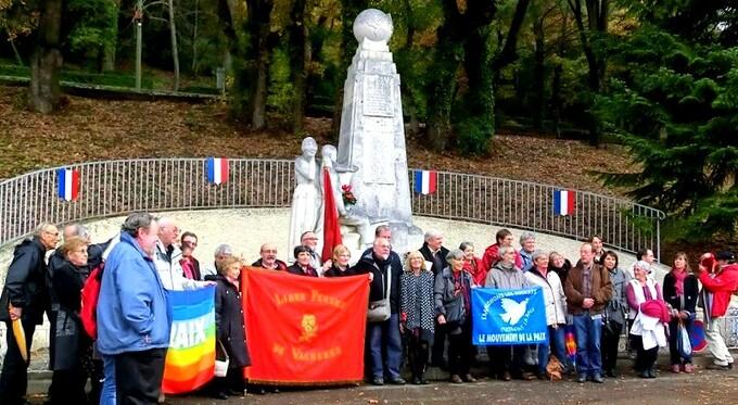 11 nov 2014, Château-Arnoux, c'était notre centenaire 14-18, pour la réhabilitation collective des 639 fusillés pour l'exemple!