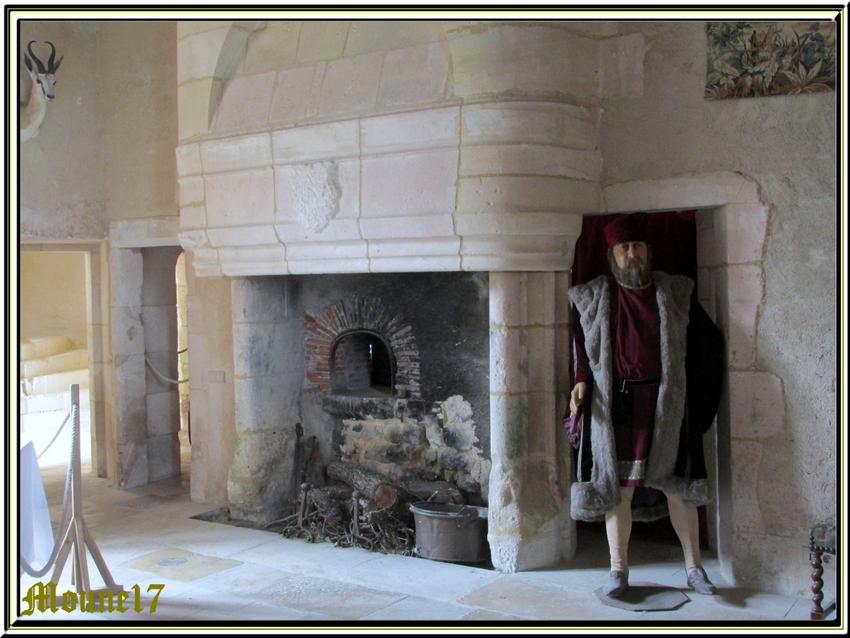 L'intérieur du château d'Angle
