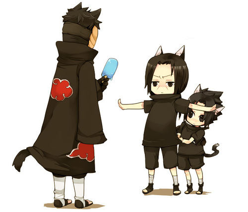 Tobi,Itachi et Sasuke