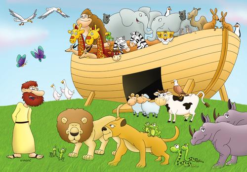 J'apprends à dessiner l'arche de Noé
