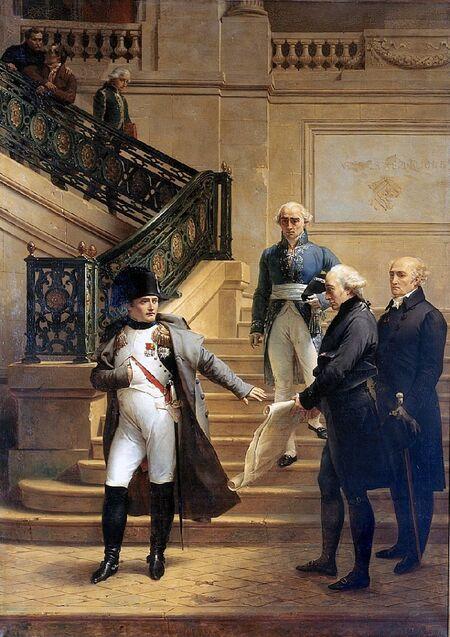 Napoléon au Palais-Royal, siège du Tribunat
