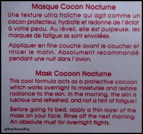Akane le masque cocon nocturne