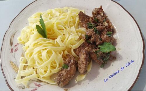 Foie de veau à la Vénitienne