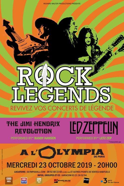Rock Legends offre Jimi Hendrix et Led Zeppelin sur un plateau le 23/10