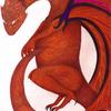 dragon brun - 2014 - 24x32 - crayons de couleur et feutres