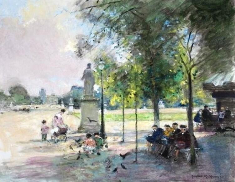 Jules K. Hervé. Les habitués du Jardin du Luxembourg.