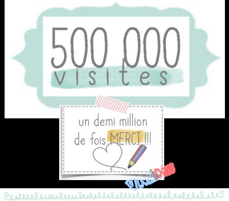500 000 visites sur le blog ! 500 000 mercis et 1 cadeau =)