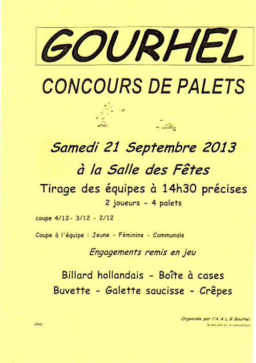 Concours de palet à Gourhel