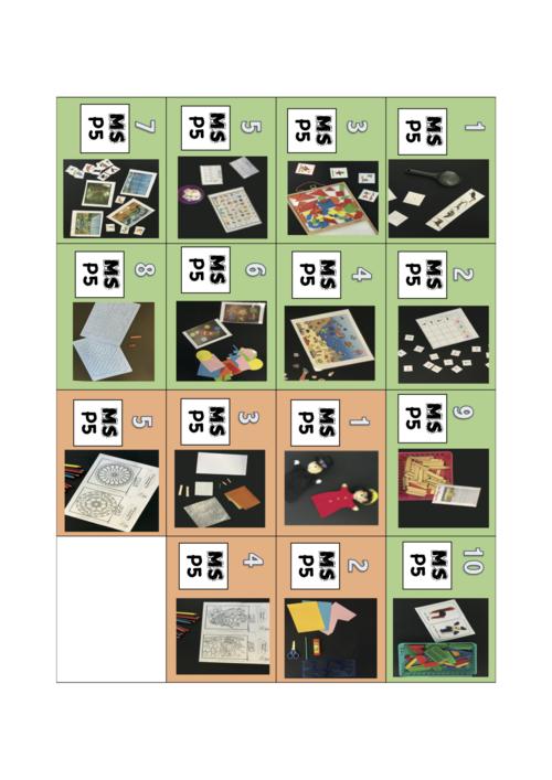 Etiquettes MS P5 et matériel