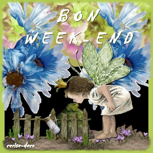 4ème participation à mon cluster premières fleurettes et des gifs  bon week end