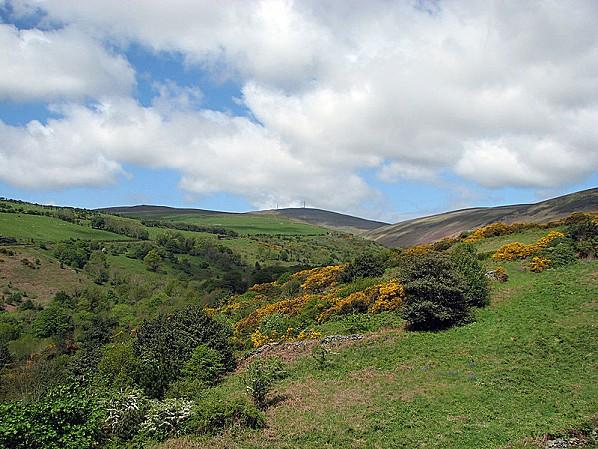 Le mont Snaefell, point culminant de l'île de Man