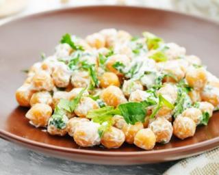 Pois chiches salade à la feta et persil