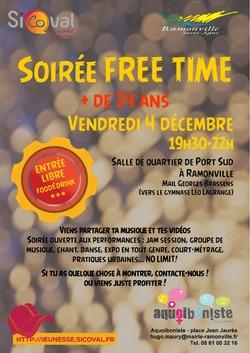 4 décembre : soirée free time à Ramonville