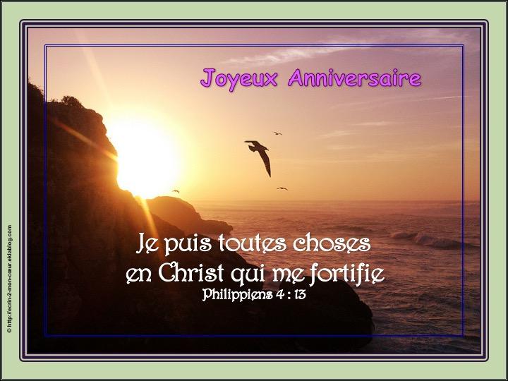 Joyeux Anniversaire - Philippiens 4 : 13