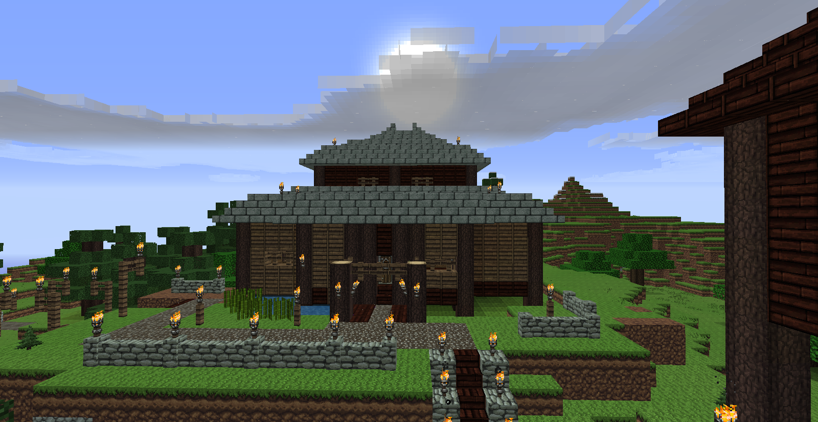 Maison Japonaise Traditionnelle Sur Minecraft Plume De Loup