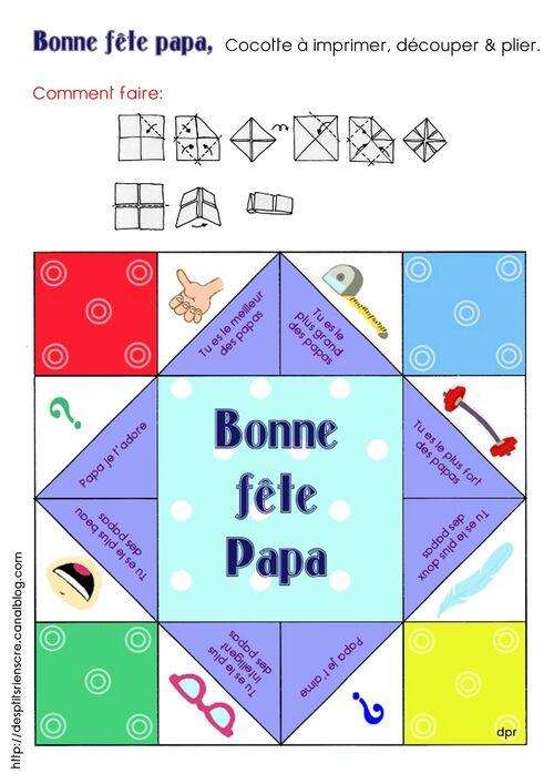 Cocotte Fête des mamans ou papas