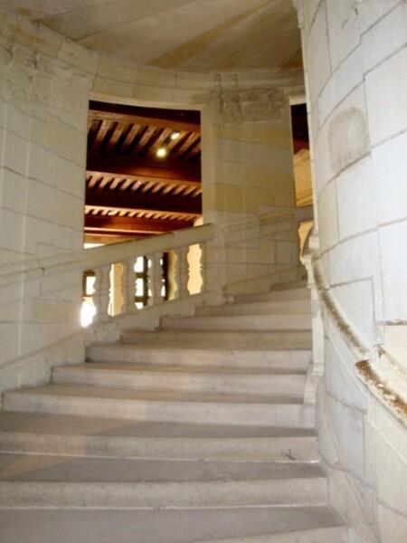 Chambord, l'escalier à double révolution