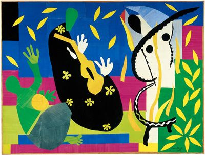 Henri Matisse, La Tristesse Du Roi     (Sorrows of the King), 1952. Showing at Centre Pompidou, March 7 - June 18 2012: