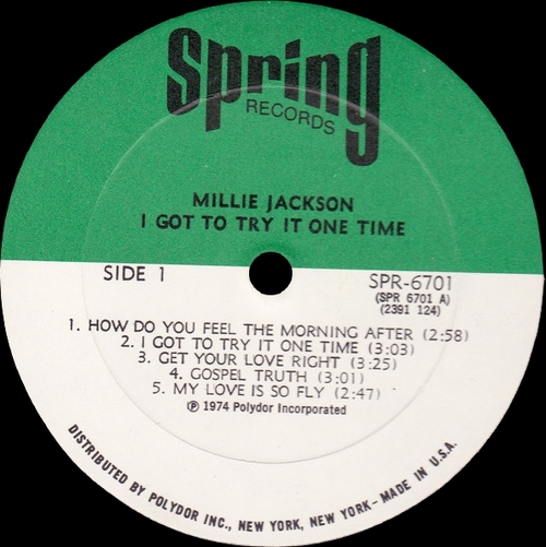 "Millie Jackson : Album "" I Got To Try It One Time "" Spring Records SPR 6701 [ US ]"