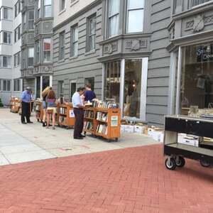 books bookstore sidewalk public library