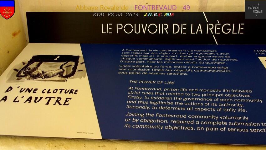 ABBAYE &  SITE  RELIGIEUX:  4/4 - 4/10 ABBAYE de  FONTREVAUD  49        D   05/03/2019