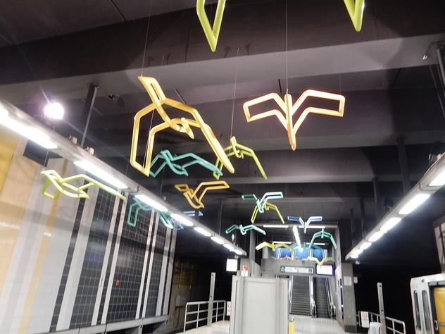 Art dans le métro de Bruxelles