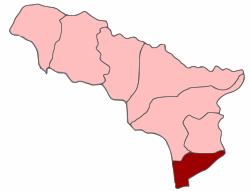 Location of Gali district in Abkhazia
