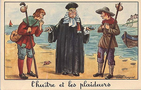 Pour page Gildas, Marie-Louve - L'huitre et les plaideurs
