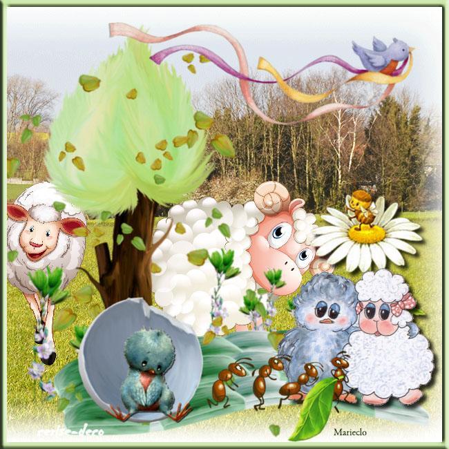 vos créations2 avec le cluster insecte de vos jardins