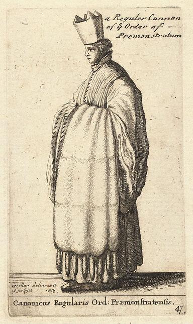 Wenceslas Hollar - Caonicus Regularis Ord- Praemonstratensis (State 2).jpg