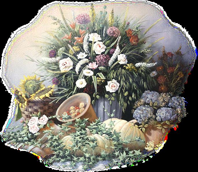 Tubes misted fleurs de Printemps