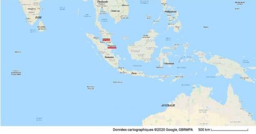 Situation Malaisie Singapour Sumatra Java